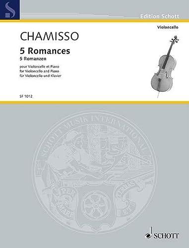 9780502450015: 5 romances : pour violoncelle et piano