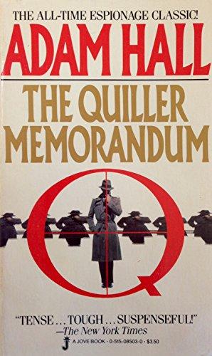 9780515085037: Quiller Memorandum