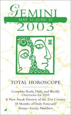 9780515133158: Total Horoscopes 2003: Gemini