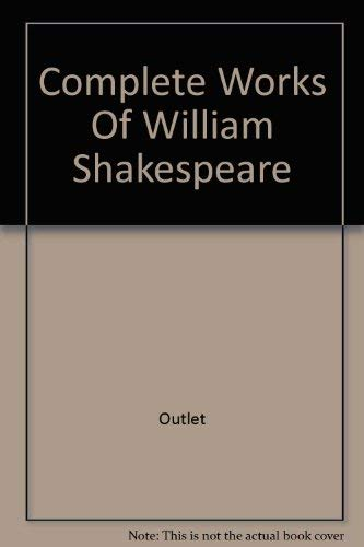 9780517010877: Complete Works Of William Shakespeare