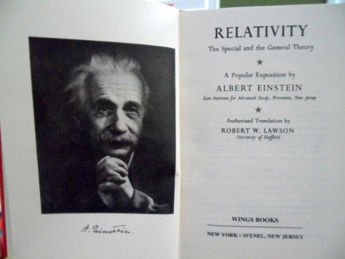 9780517025307: Relativity: The Special and the General Theory