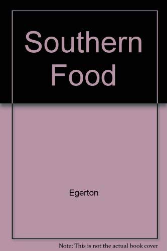 Southern Food (0517051036) by Egerton, John