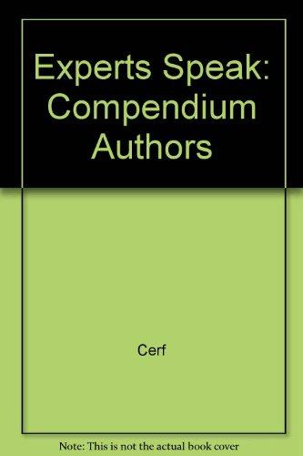 9780517056233: The Experts Speak: The Definitive Compendium of Authoritative Misinformation