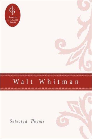 9780517073971 Selected Poems Of Walt Whitman Great Poets
