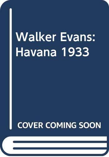 9780517088401: Walker Evans: Havana 1933