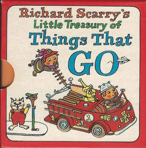 9780517122587: Richard Scarry's Little Treasury of Things that Go, 4 Volumes