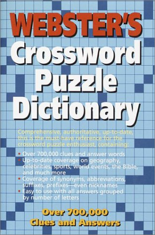 WEBSTER'S CROSSWORD PUZZLE DICTIONARY Revised and Updated