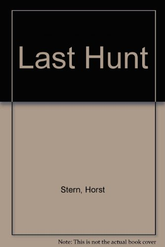 character analysis of joop in the last hunt by horst stern