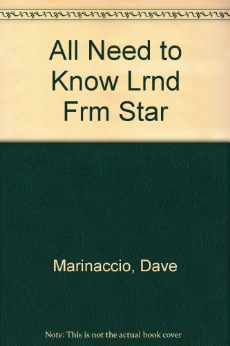 9780517176566: All Need to Know Lrnd Frm Star
