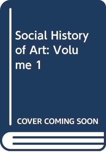 9780517179314: Social History of Art: Volume 1