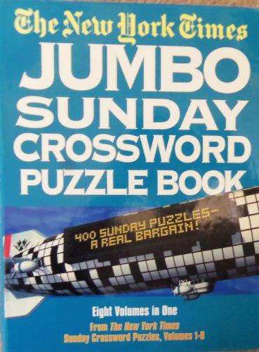 9780517182475: New York Times Jumbo Sunday Crossword Puzzle Book