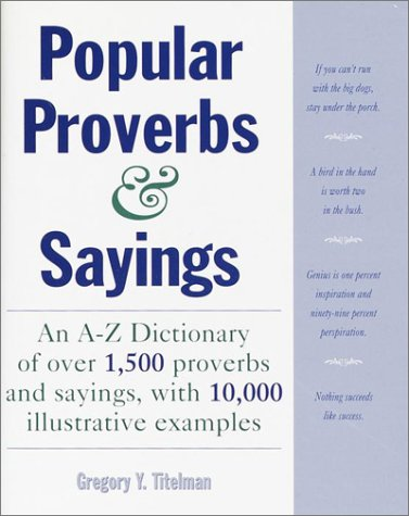 9780517186589: Popular Proverbs and Sayings