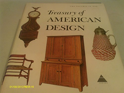 9780517259153: Treasury of American Design and Antiques, 2 Volumes in 1 : A Pictorial Survey of Popular Folk Arts Based Upon Watercolor Renderings in the Index of American Design, At the National Gallery of Art
