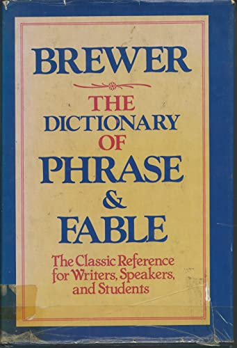 9780517259214: The Dictionary of Phrase & Fable