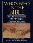 Who's Who in the Bible (051732170X) by Ronald Brownrigg; Joan Comay