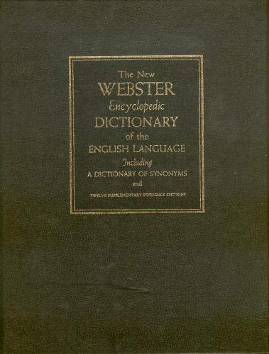 New Websters Encyclopedic Dictionary of the English: Virginia S. Thatcher,
