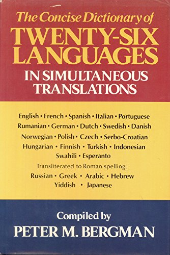 9780517347201: Concise Dictionary of Twenty-Six Languages in Simultaneous Translation