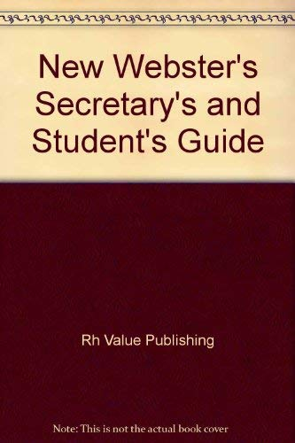 9780517371596: New Webster's Secretarys & Student