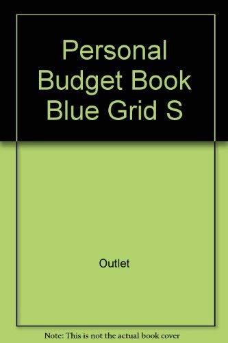 value publishing personal budget book blue grid abebooks