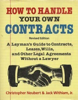 9780517378724: How To Handle Your Own Contracts