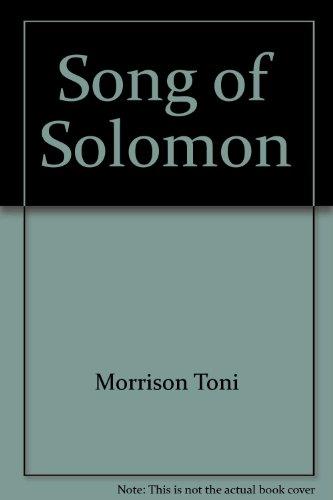 Song of Solomon: Toni Morrison
