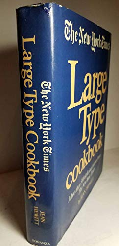 New (The) York Times Large Type Cookbook: Hewitt, Jean
