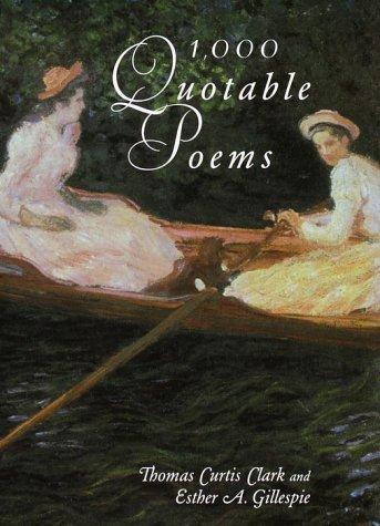9780517481219: 1000 Quotable Poems