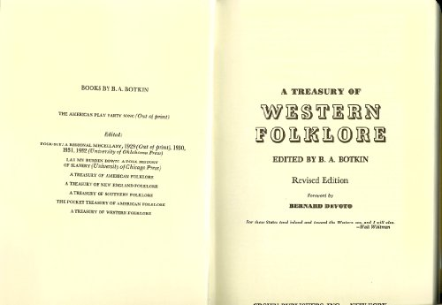 9780517516843: A Treasury of Western Folklore