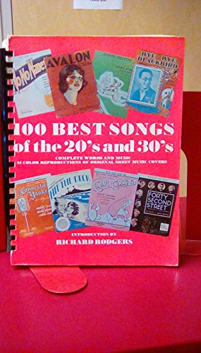 9780517524114: 100 Best Songs of the 20's and 30's