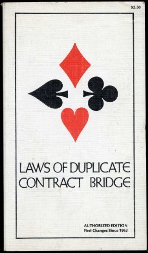 9780517524398: Laws of Duplicate Contract Bridge: As Promulgated in the Western Hemisphere by the American Contract Bridge League, Effective July 30, 1975