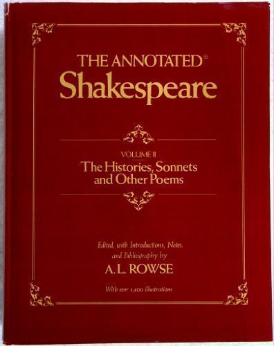 9780517535073: ANNOTATED SHAKESPEARE: Volume II; The Histories, Sonnets and Other Poems