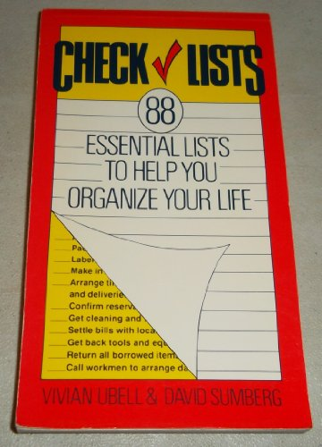 9780517543689: Check lists: 88 essential lists to help you organize your life
