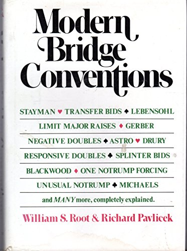Modern Bridge Conventions: Root, William S. (Richard Pavlicek) *Author SIGNED!*