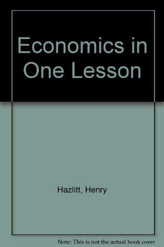 9780517548073: Economics in One Lesson
