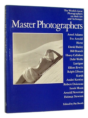 9780517550120: Master Photographers: The World's Great Photographers on their Art and Technique