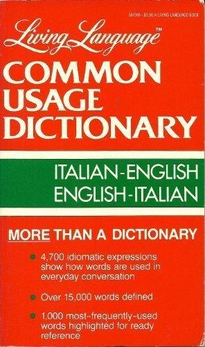 9780517557914: Living Language Common Usage Dictionary Italian-English