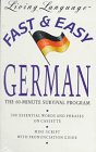 9780517585771: Living Language Fast and Easy German: The 60-Minute Survival Program (Living language fast & easy)