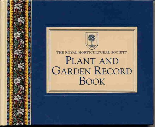 9780517594025: Royal Horticultural Society Plant and Record Book
