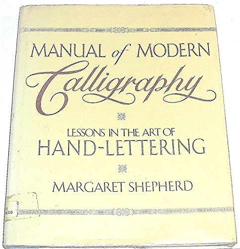 9780517659847: Manual of Modern Calligraphy: Lessons in the Art of Handlettering