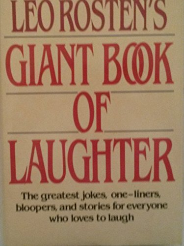 Leo Rosten's Giant Book of Laugh (051767727X) by Leo Rosten