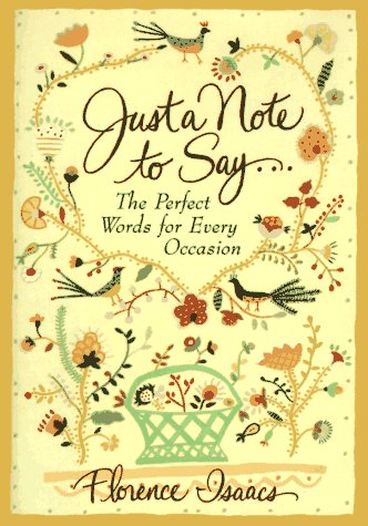 9780517703489: Just a Note to Say . . .: The Perfect Words for Every Occasion