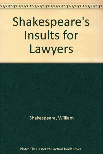 9780517704479: Shakespeare's Insults For Lawyers