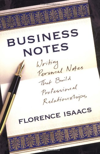 9780517708910: Business Notes: Writing Personal Notes That Build Professional Relationships