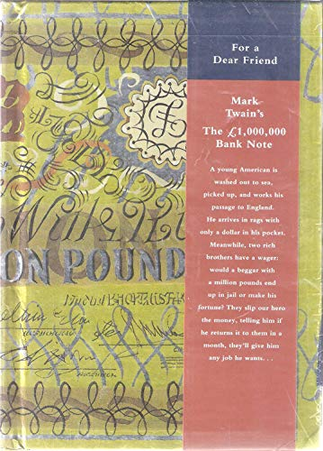 9780517799796: The 1,000,000 Bank Note: Greetings Book