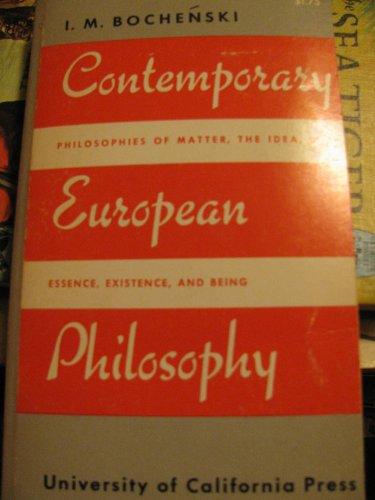 9780520001336: Contemporary European Philosophy (California library reprint series)