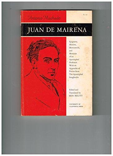 9780520007949: Juan de Mairena
