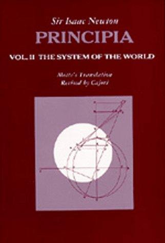 9780520009295: Principia Vol.2: The System of the World