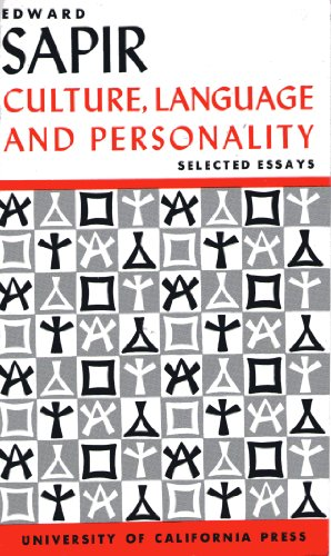 9780520011168: Culture, Language and Personality: Selected Essays