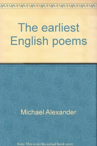 9780520015043: The earliest English poems;: A bilingual edition