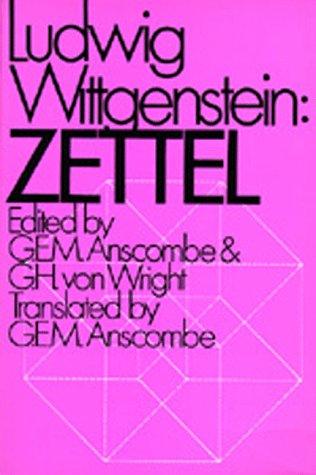 9780520016354: Zettel (English and German Edition)